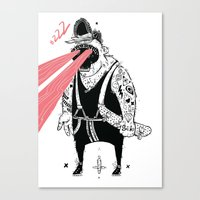 the dude Canvas Prints featuring dude by Dávid Kurňavka