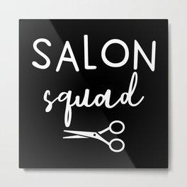 Hairdresser Gift Hairstylist Barber Hair Metal Print