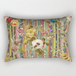 Summer Rose Garden Rectangular Pillow