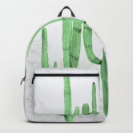 Cactus Trio Marble Green by Nature Magick Backpack