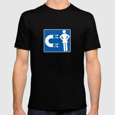 Chick magnet MEDIUM Black Mens Fitted Tee