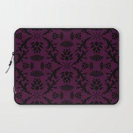 Purple Thistle Damask Laptop Sleeve