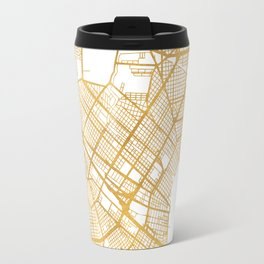 NEW ORLEANS LOUISIANA CITY STREET MAP ART Travel Mug