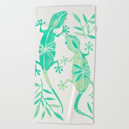 Geckos – Mint Palette Beach Towel
