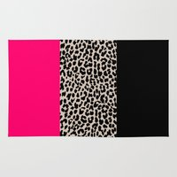 the national Area & Throw Rugs featuring Leopard National Flag IV by M Studio