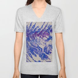 tiger skin in cold mood Unisex V-Neck