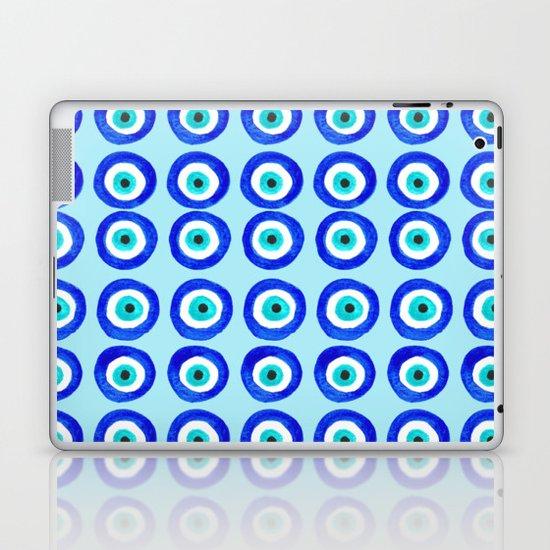 Evil Eye Talisman - on turquoise Laptop & iPad Skin