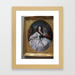 Picture of a Picture of a Beauty Framed Art Print