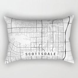Scottsdale Map, Arizona USA - Black & White Portrait Rectangular Pillow