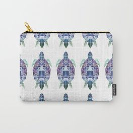 Purple mosaic turtle Carry-All Pouch