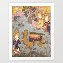 Coffin of Imam Ali from The Book of Omens, 16th Century Art Print