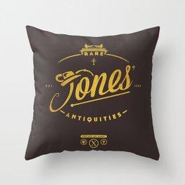 """Jones' Rare Antiquities"" - gold version Throw Pillow"
