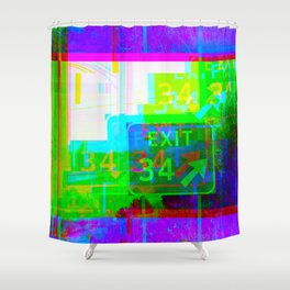 Exit 34 Shower Curtain
