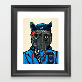 THAI CAT - SCREEN PRINT EDITION Framed Art Print