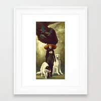 dogs Framed Art Prints featuring Dogs by Kelly Perry