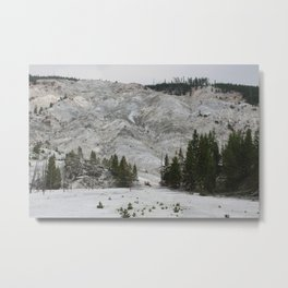 Roaring Mountain, Yellowstone Metal Print