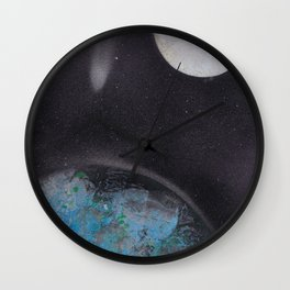 Earth in the Universe Wall Clock