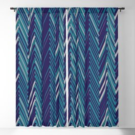 Abstract Chevron II Blackout Curtain