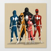power rangers Canvas Prints featuring Power Rangers by MingjueChen