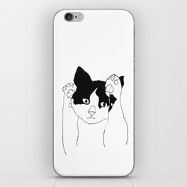 paws up cat iPhone Skin