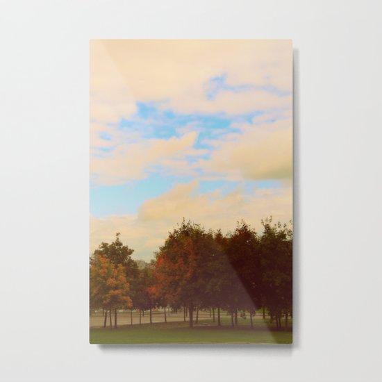 Meet me in autumn park Metal Print