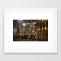 iron maiden Framed Art Prints featuring Iron Maiden by Rassva