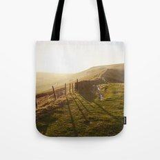 Rushup Edge at sunset. Derbyshire, UK. Tote Bag
