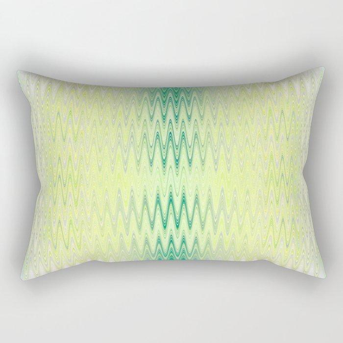 Textile-aqua & lemon Rectangular Pillow