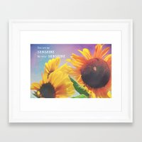 sunshine Framed Art Prints featuring Sunshine by Olivia Joy StClaire