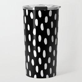 Watercolor Dots Black-and-White Travel Mug