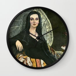 Madame Morticia Leblanc: Ingres meets The Addams Family Wall Clock