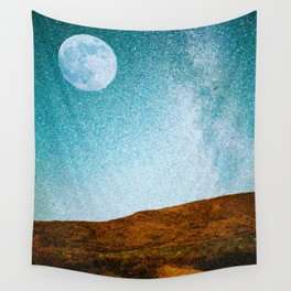 Pastoral Moonrise Wall Tapestry