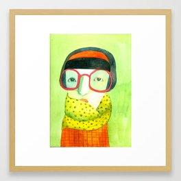 Portrait with glasses Framed Art Print