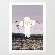 JESUS   EASTER   CROSS Art Print