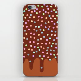 Dripping Melted chocolate Glaze with sprinkles iPhone Skin