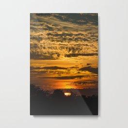Cloudy Colored Sky Metal Print