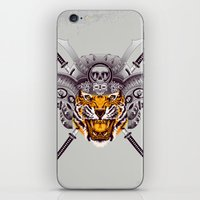 tigger iPhone & iPod Skins featuring Tiger Warrior by rendhy wahyu