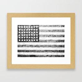 Grunge American Flag Framed Art Print