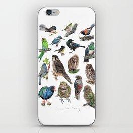 Native NZ Birds iPhone Skin