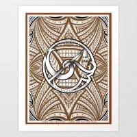 sacred center tatau Art Print