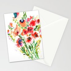 Bouquet Red Stationery Cards