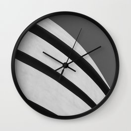Blank Space | Modern Black and White Architecture Photography of New York City Wall Clock