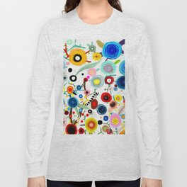 Rupydetequila whimsical floral art 2018 Long Sleeve T-shirt