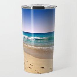 Footsteps in sand Travel Mug