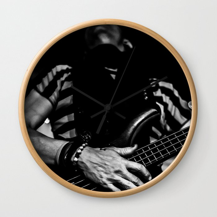 Slap the bass Wall Clock