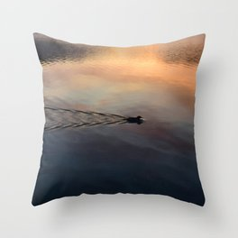 Night's End: Making Ripples Throw Pillow
