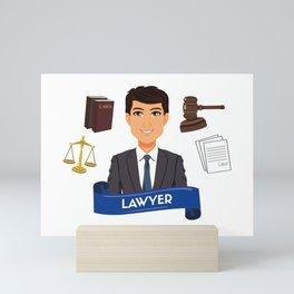 The best lawyer Mini Art Print