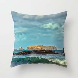 Time and Tide Bell - Bosta - Isle of Lewis Throw Pillow