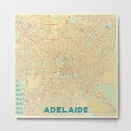 Adelaide Map Retro Metal Print