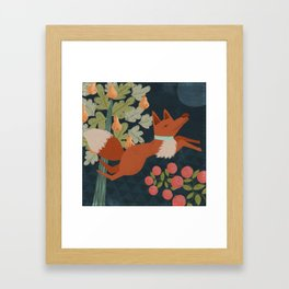 A Fox in The Forest Framed Art Print